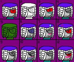 James Headnail's expressions by AskTheGreySkull