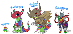 .:Custom Toyagumon toyline:. by Nights2Dreams