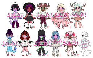 Monster Girls set 10 OPEN *ON SALE* by rap1993