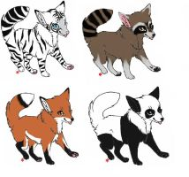 Adoptable Fox/Wolves ::OPEN:: by MaddiiMayyhemm