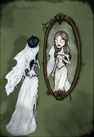Bride and Mirror by edhellenmir