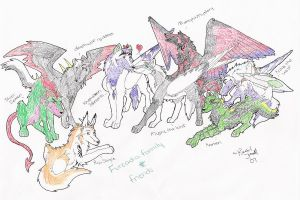 Furcadia Family and Friends by DrMario64