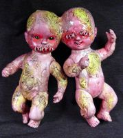 ROT TOT Siamese twins -mutants by Undead-Art