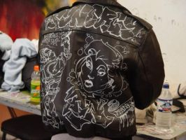 Graffiti Leather Jacket by darkriddle1