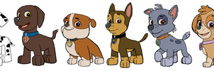 Paw Patrol - Without Outfits by KingLeonLionheart