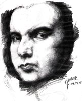 Simon Gallup sketch by chavezy