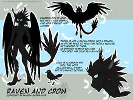 Ref Sheet .:Raven and Crow:. by Shadow-of-Destiny