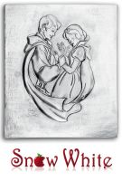 SNOW WHITE. EMBOSSED TIN PLAQUE. by arteymetal