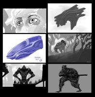 sketches, first hours with wacom companion by fravenier