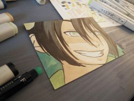 Toph on my desk by reh-kitz