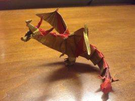 Origami Hell Dragon by Naganeboshni