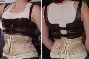 Steampunk Corset and Bustier by sidneyeileen