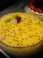 Passion Fruit Tart by Sliceofcake