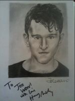 Signed Harry Melling Drawing. by jesscoleman94