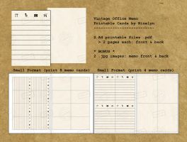 Vintage Office Memo - Printable by Ninelyn