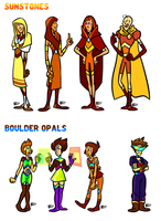 Sunstones and Boulder Opals (gemsona) by JimPAVLICA
