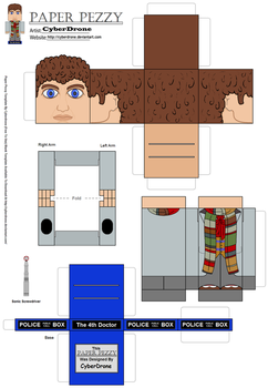 Paper Pezzy- The 4th Doctor by CyberDrone
