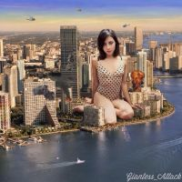 Giantess Aubrey Plaza by JingleJangleJam