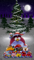 Angry Birds Christmas 2016 by Oceanegranada