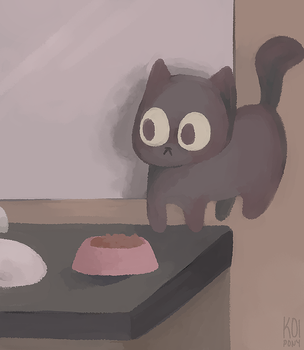 floating catto by Koipony