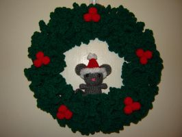 Christmouse Wreath by Ginger-PolitiCat