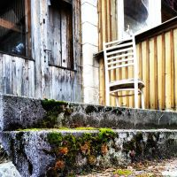 Chair on stair by logopics