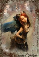 Time Traveler Steampunk Angel by cdlitestudio