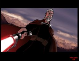 Count Dooku :: The Clone Wars by richmbailey