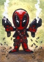 Deadpool Chibi sketch card by geralddedios