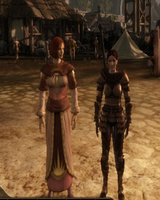 Natalien Mahariel and Leliana height difference by ForTheLoveOfSukka