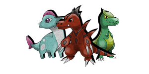 Starters second evolutions by Clophil