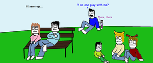 Sam, Mike, Mary and the rest are in a park by tigerclaw64