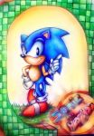My First Sonic Drawing  - colour pencil by MissTangshan95
