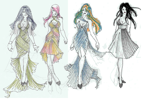 Pleat Collection Quick Sketch by HarajukuBoy86