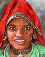 Indian Women by ArtsandDogs by painters