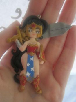 Handmade Wonder Woman Charm by thepunkpalace