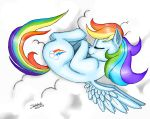 Rainbow Dash Sleep Color by Shikidark
