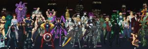 Angel Falls Villain Roster by Sean-Loco-ODonnell