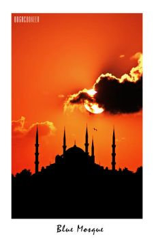 Sunset on Blue Mosque by bbokeer