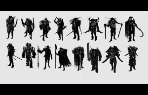 Male Character Thumbnails by JulioNicoletti
