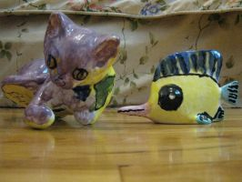 cat and fish made in 2004 by 32d