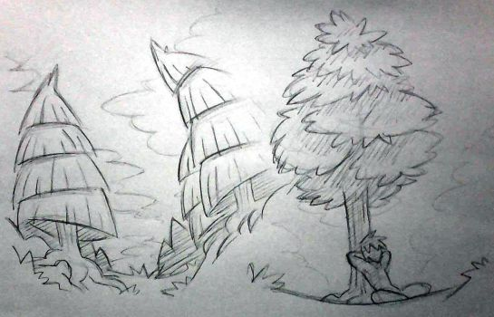 Trees doodle by Fabaro