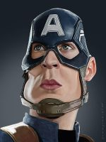 Captain America by markdraws