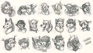 Headshot Sketch Commission: Batch 3 by SilverDeni