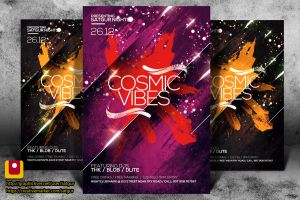 Cosmic Vibes Party Flyer by satgur