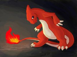 Selkie  Draws the Dex: #005 Charmeleon by selkie-gal
