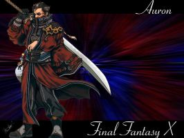 Auron Wallpaper by Reddragonwings