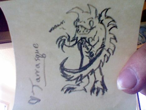 Tarrasque chibi WUT. by Q-Lok