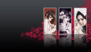 Red starz PSP wall by DeviantSith