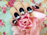 Edgy Flower Tip Nail Tutorial. by RubyReminiscence